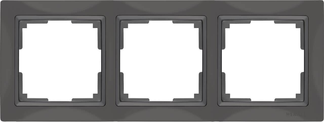 Рамка Werkel Snabb Basic на 3 поста серо-коричневый WL03-Frame-03 4690389099052
