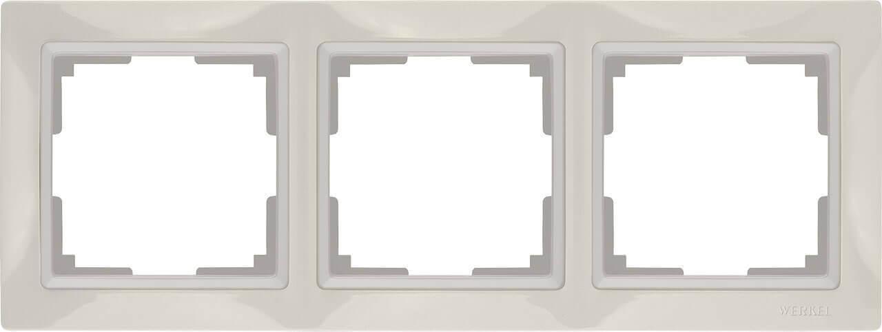 Рамка Werkel Snabb Basic на 3 поста слоновая кость WL03-Frame-03 4690389098741