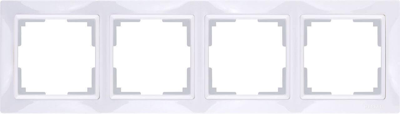 Рамка Werkel Snabb Basic на 4 поста белый WL03-Frame-04 4690389098772