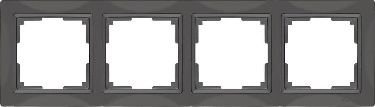 Рамка Werkel Snabb Basic на 4 поста серо-коричневый WL03-Frame-04 4690389099069