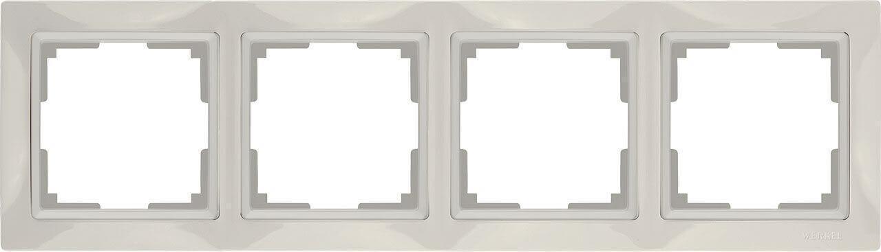 Рамка Werkel Snabb Basic на 4 поста слоновая кость WL03-Frame-04 4690389098765