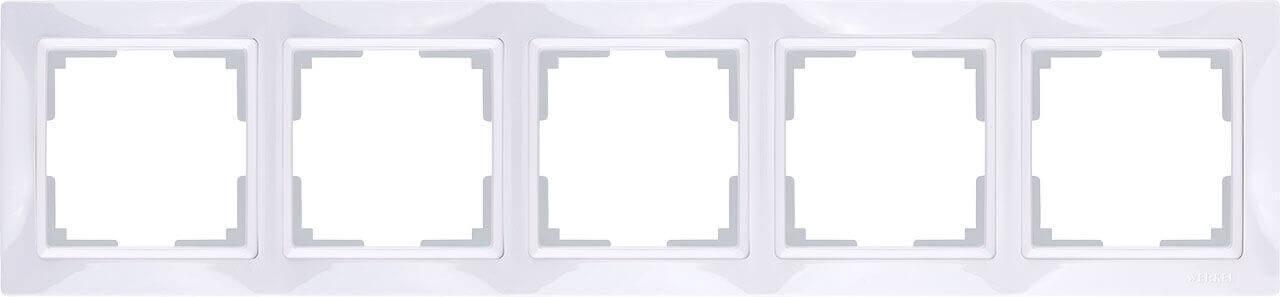 Рамка Werkel Snabb Basic на 5 постов белый WL03-Frame-04 4690389098796