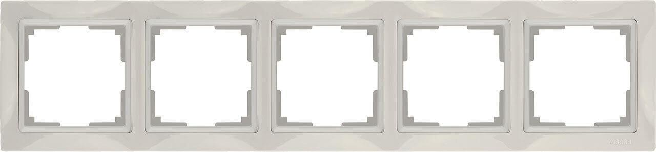 Рамка Werkel Snabb Basic на 5 постов слоновая кость WL03-Frame-04 4690389098789