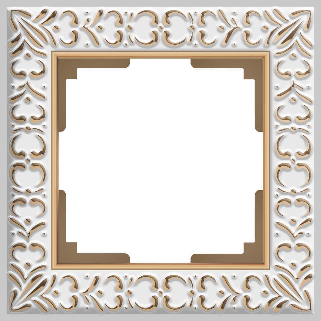 Рамка Werkel Antik на 1 пост белое золото WL07-Frame-01 4690389099175