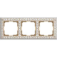 Рамка Werkel Antik на 3 поста белое золото WL07-Frame-01 4690389099199