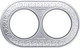 Рамка Werkel Antik Runda на 2 поста жемчужный WL70-frame-02 4690389106521