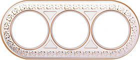 Рамка Werkel Antik Runda на 3 поста белое золото WL70-frame-03 4690389106538