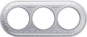 Рамка Werkel Antik Runda на 3 поста жемчужный WL70-frame-03 4690389106552