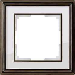 Рамка Werkel Palacio на 1 пост бронза/белый WL17-Frame-01 4690389103551