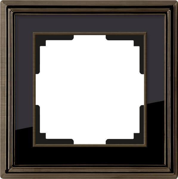 Рамка Werkel Palacio на 1 пост бронза/черный WL17-Frame-01 4690389103568