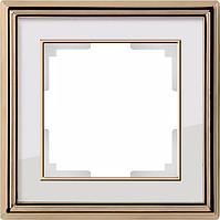 Рамка Werkel Palacio на 1 пост золото/белый WL17-Frame-01 4690389103575