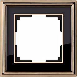 Рамка Werkel Palacio на 1 пост золото/черный WL17-Frame-01 4690389103582