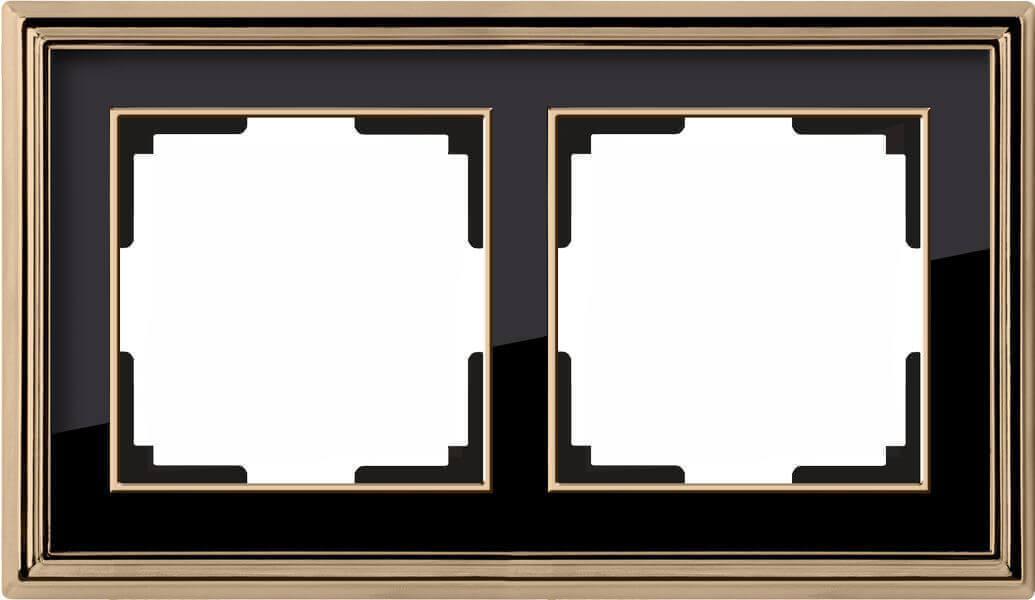 Рамка Werkel Palacio на 2 поста золото/черный WL17-Frame-02 4690389103636