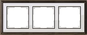 Рамка Werkel Palacio на 3 поста бронза/белый WL17-Frame-03 4690389103650
