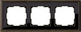 Рамка Werkel Palacio на 3 поста бронза/черный WL17-Frame-03 4690389103667