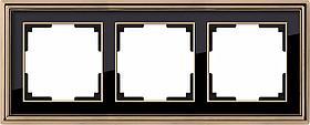 Рамка Werkel Palacio на 3 поста золото/черный WL17-Frame-03 4690389103681