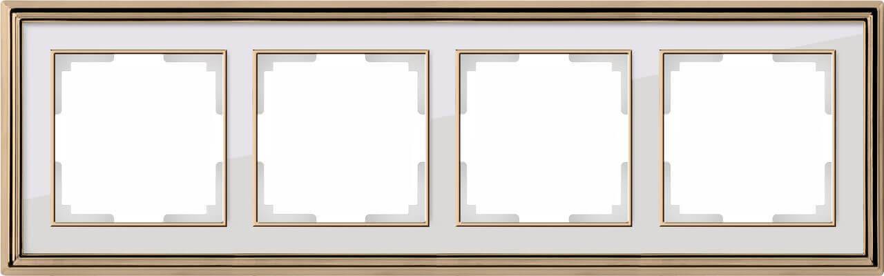 Рамка Werkel Palacio на 4 поста золото/белый WL17-Frame-04 4690389103728