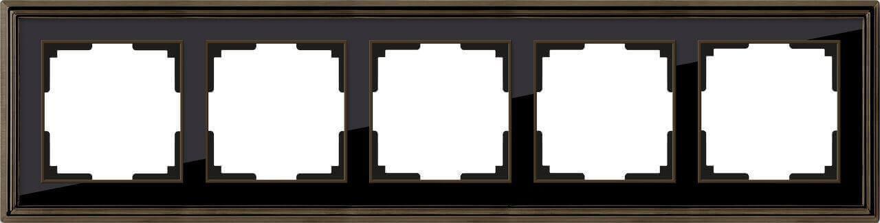 Рамка Werkel Palacio на 5 постов бронза/черный WL17-Frame-05 4690389103766