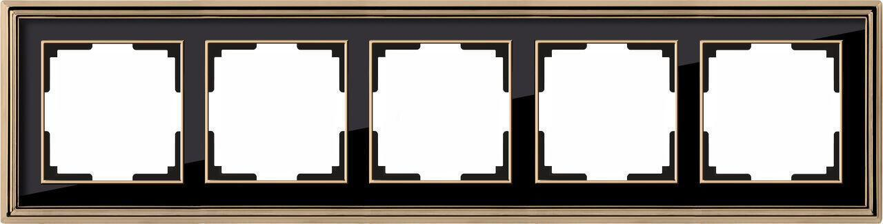 Рамка Werkel Palacio на 5 постов золото/черный WL17-Frame-05 4690389103780