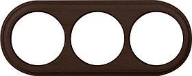 Рамка Werkel Legend на 3 поста венге WL15-frame-03 4690389100956