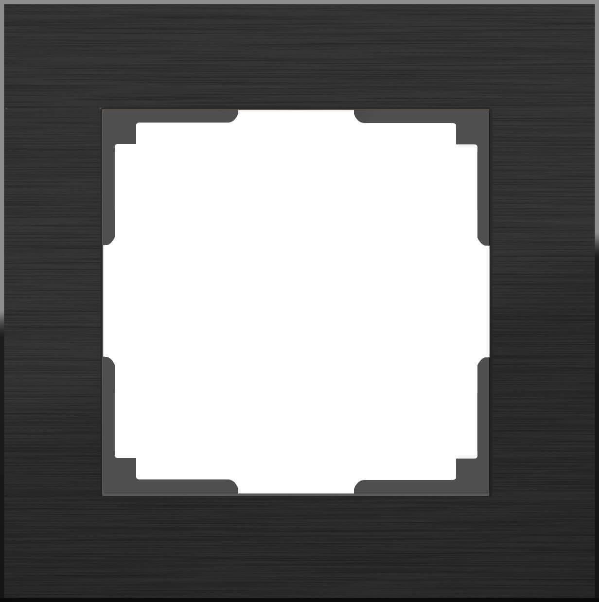 Рамка Werkel Aluminium на 1 пост алюминий черный WL11-Frame-01 4690389110443