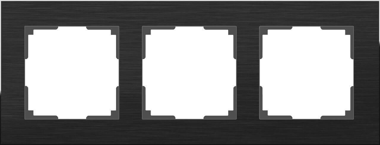 Рамка Werkel Aluminium на 3 поста алюминий черный WL11-Frame-03 4690389110467