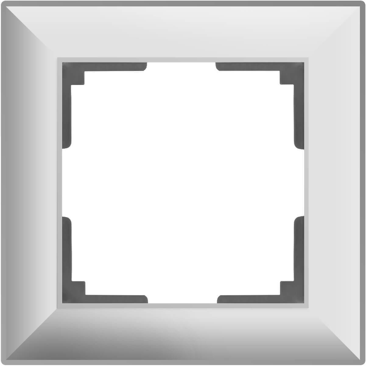 Рамка Werkel Fiore на 1 пост белый WL14-Frame-01 4690389109034