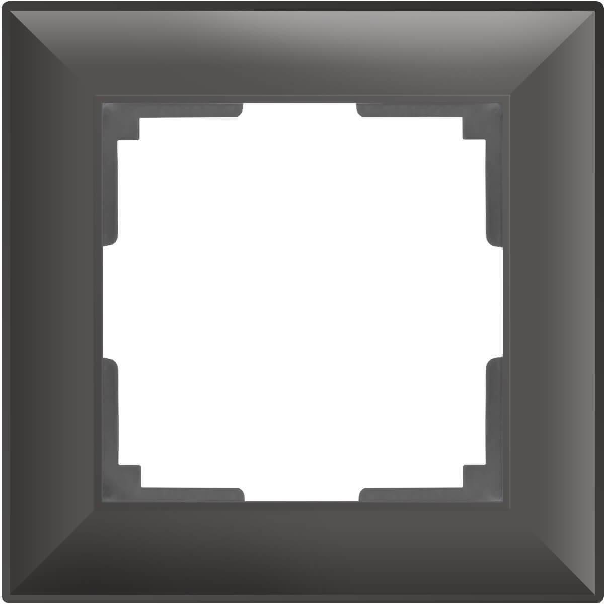 Рамка Werkel Fiore на 1 пост серо-коричневый WL14-Frame-01 4690389109058