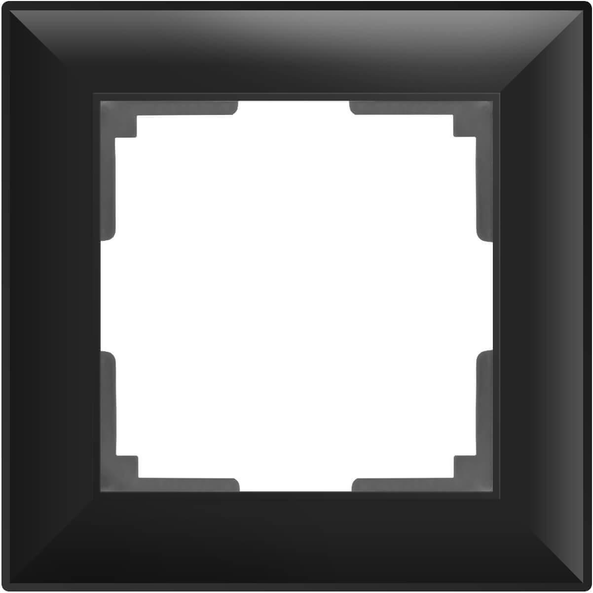 Рамка Werkel Fiore на 1 пост черный матовый WL14-Frame-01 4690389109065