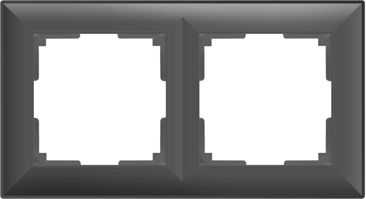 Рамка Werkel Fiore на 2 поста серо-коричневый WL14-Frame-02 4690389109096