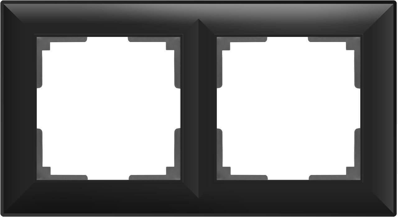 Рамка Werkel Fiore на 2 поста черный матовый WL14-Frame-02 4690389109102