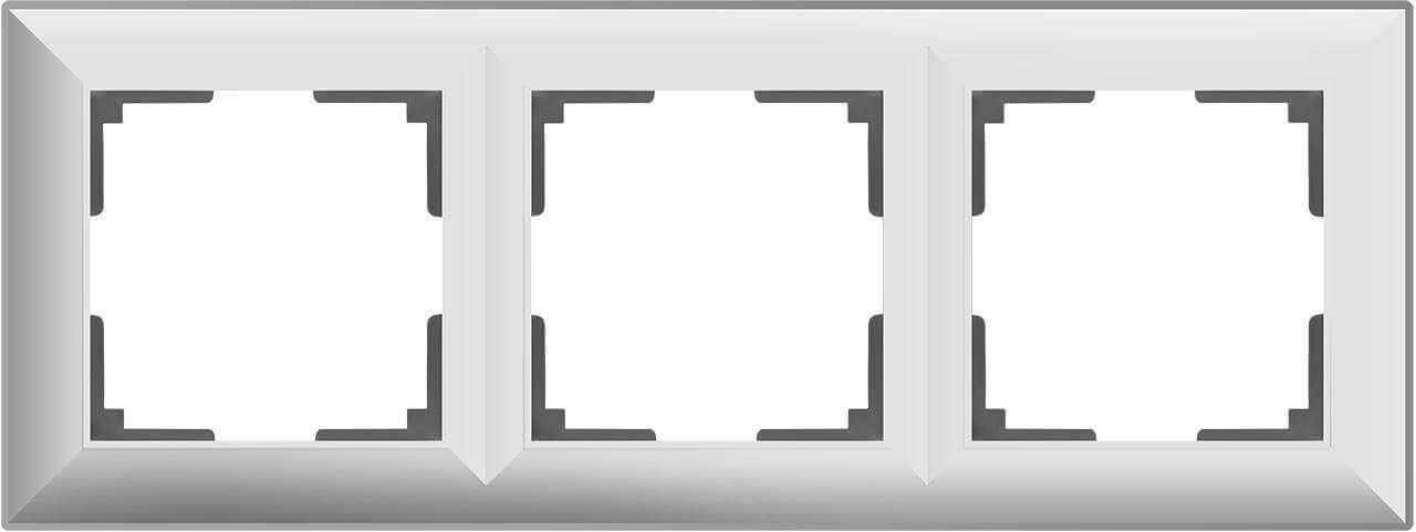 Рамка Werkel Fiore на 3 поста белый WL14-Frame-03 4690389109119