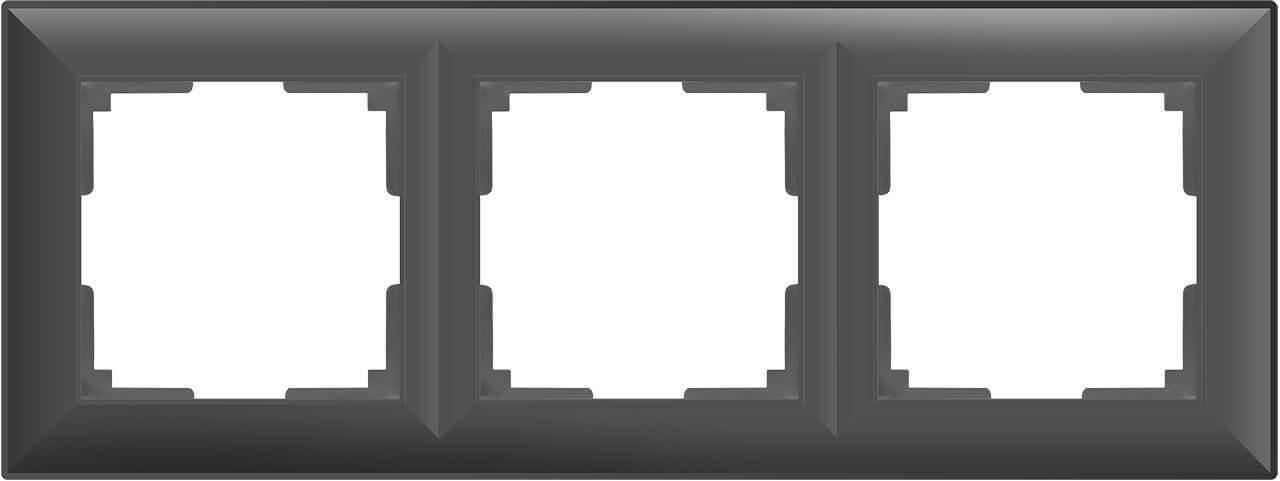 Рамка Werkel Fiore на 3 поста серо-коричневый WL14-Frame-03 4690389109133
