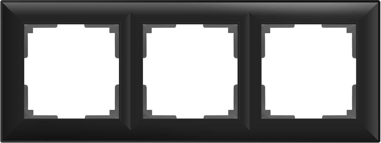 Рамка Werkel Fiore на 3 поста черный матовый WL14-Frame-03 4690389109140