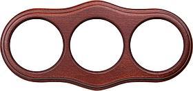 Рамка Werkel Legend Wave на 3 поста итальянский орех WL20-frame-03 4690389117114