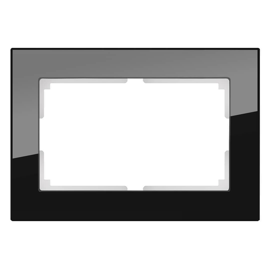 Рамка Werkel Favorit для двойной розетки черный WL01-Frame-01-DBL 4690389117220