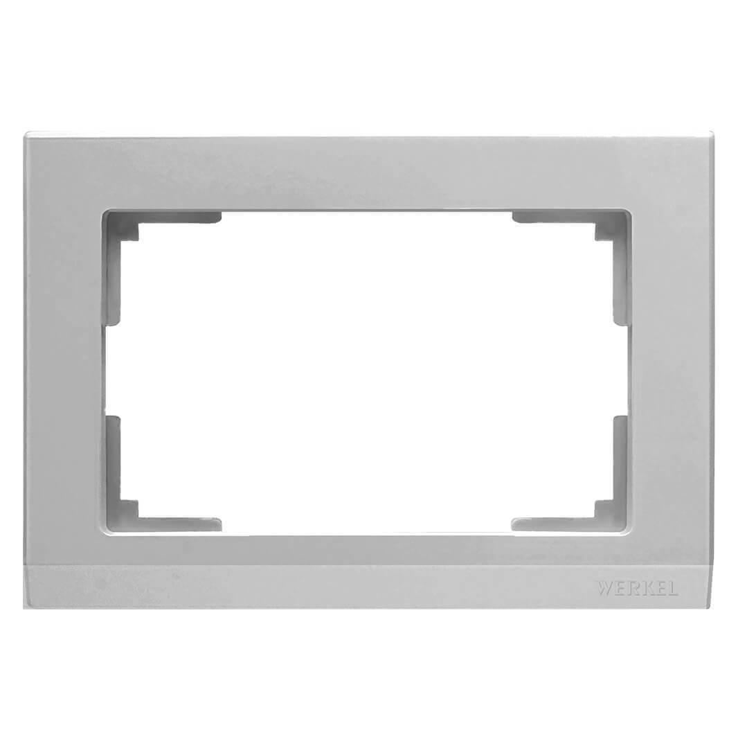 Рамка Werkel Stark для двойной розетки серебряный WL04-Frame-01-DBL 4690389117206