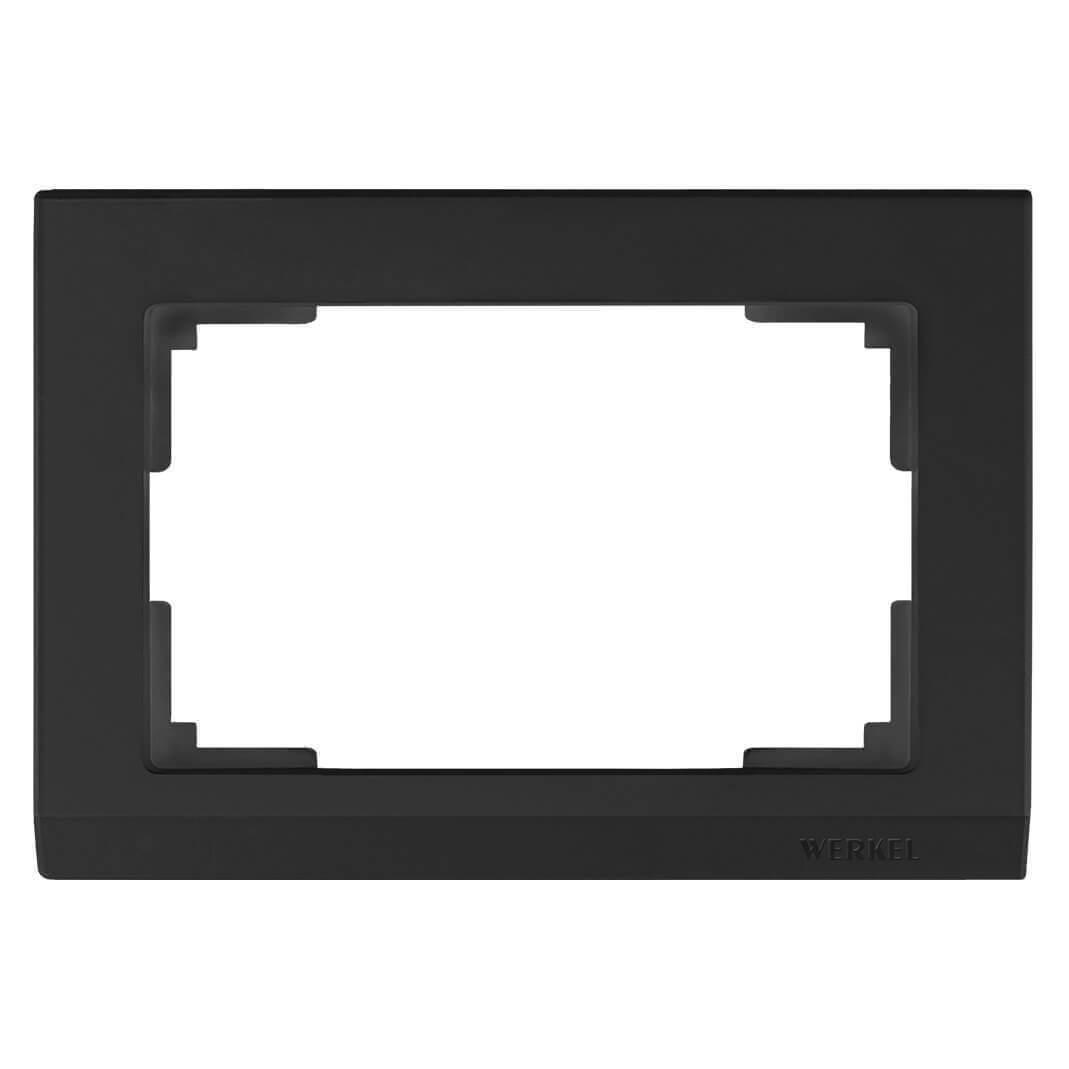 Рамка Werkel Stark для двойной розетки черный WL04-Frame-01-DBL-black 4690389117213
