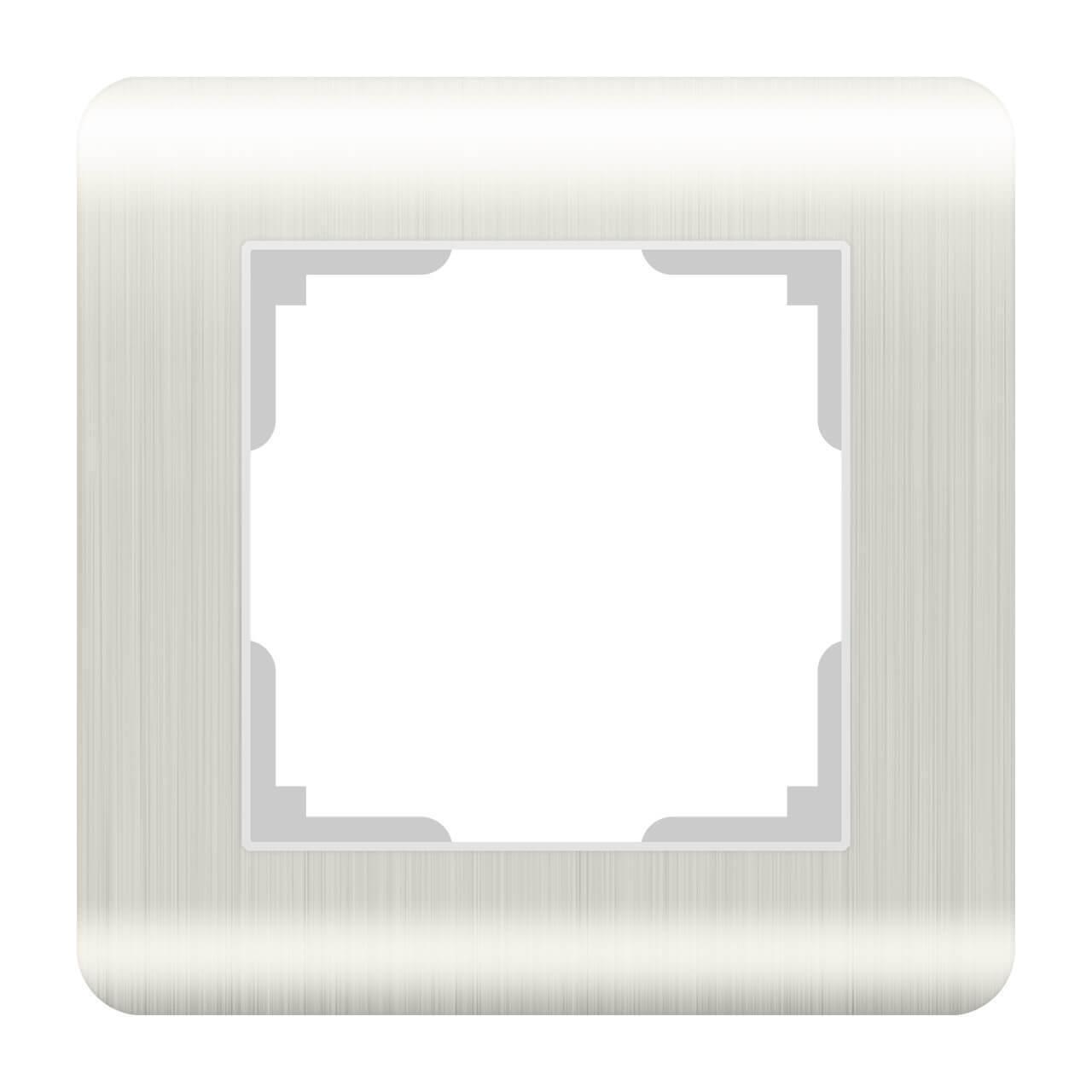 Рамка Werkel Stream на 1 пост перламутровый WL12-Frame-01 4690389123009