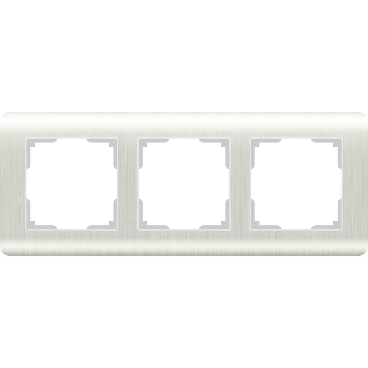 Рамка Werkel Stream на 3 поста перламутровый WL12-Frame-03 4690389123023