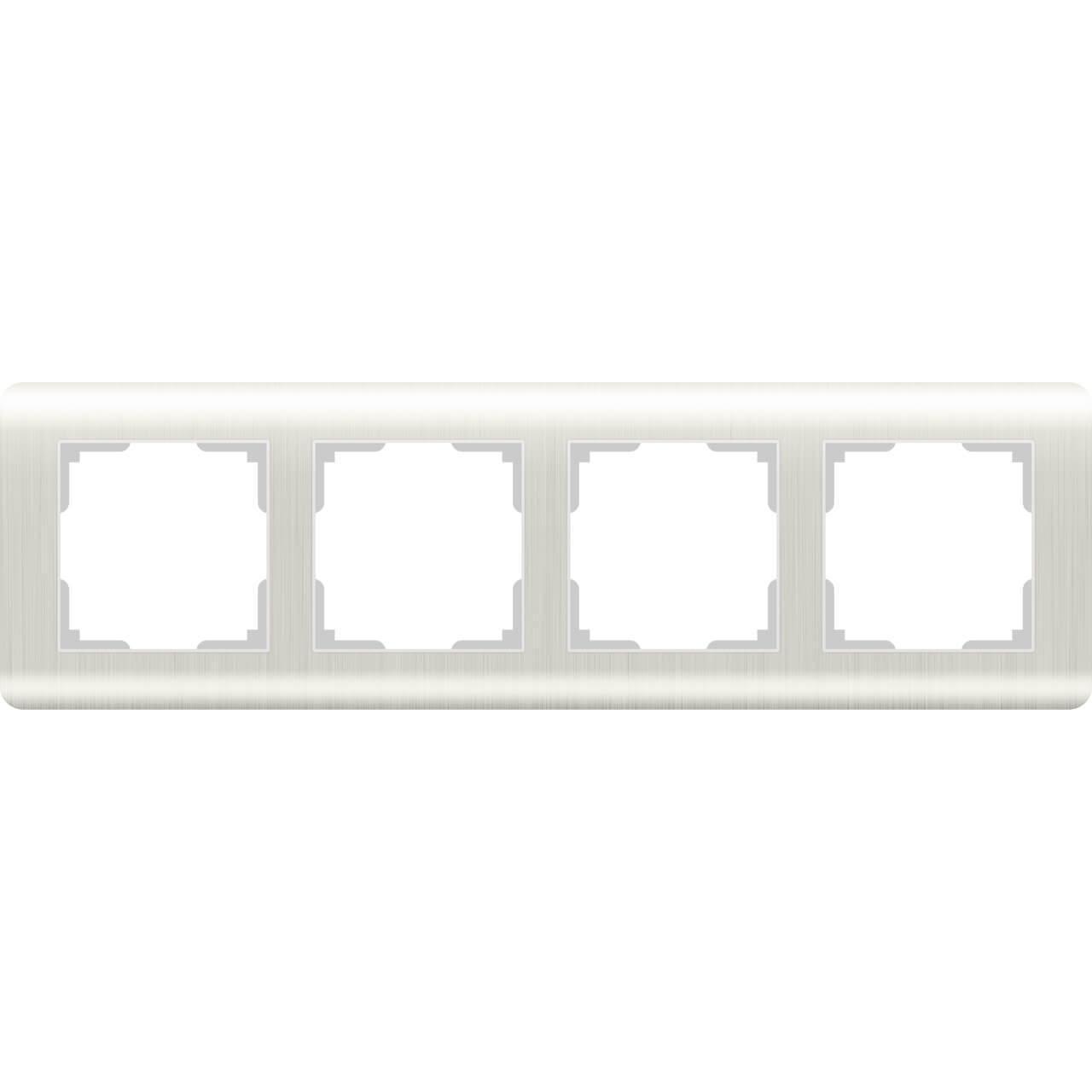 Рамка Werkel Stream на 4 поста перламутровый WL12-Frame-04 4690389123030