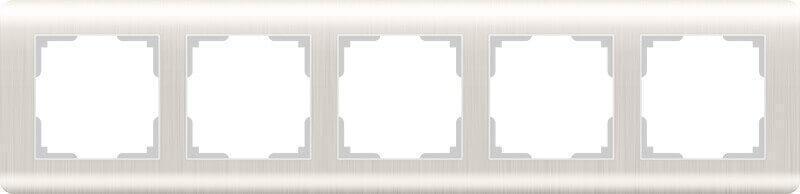 Рамка Werkel Stream на 5 постов перламутровый WL12-Frame-05 4690389123047