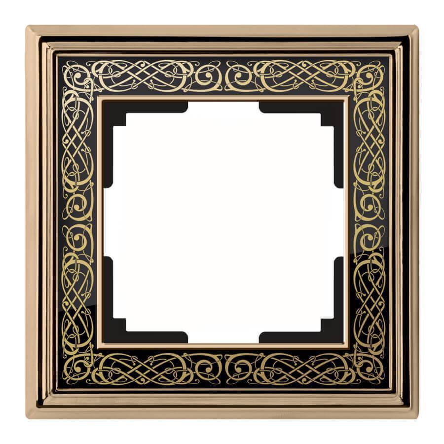 Рамка Werkel Palacio Gracia на 1 пост золото/черный WL77-Frame-01 4690389126024