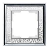 Рамка Werkel Palacio Gracia на 1 пост хром/белый WL77-Frame-01 4690389126031