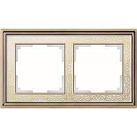 Рамка Werkel Palacio Gracia на 2 поста золото/белый WL77-Frame-02 4690389126048