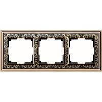 Рамка Werkel Palacio Gracia на 3 поста золото/черный WL77-Frame-03 4690389126086