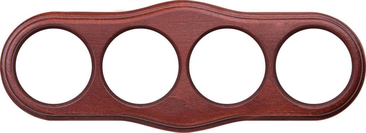 Рамка Werkel Legend Wave на 4 поста итальянский орех WL20-frame-04 4690389117312