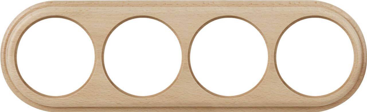Рамка Werkel Legend на 4 поста светлый бук WL15-frame-04 4690389117251