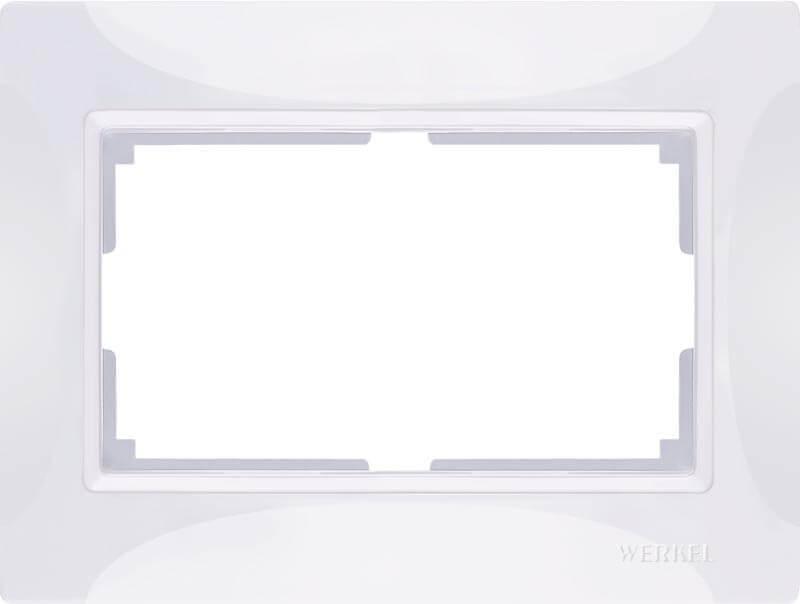 Рамка Werkel Snabb для двойной розетки белый basic WL03-Frame-01-DBL-white 4690389117008