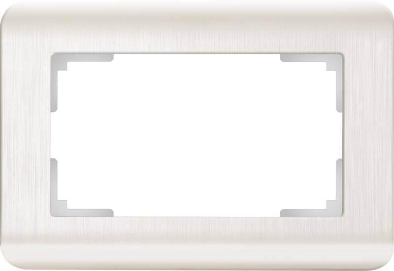 Рамка для двойной розетки Werkel Stream перламутровый WL12-Frame-01-DBL 4690389131318